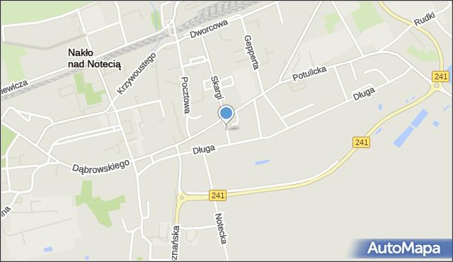 Nakło nad Notecią, Wąska, mapa Nakło nad Notecią