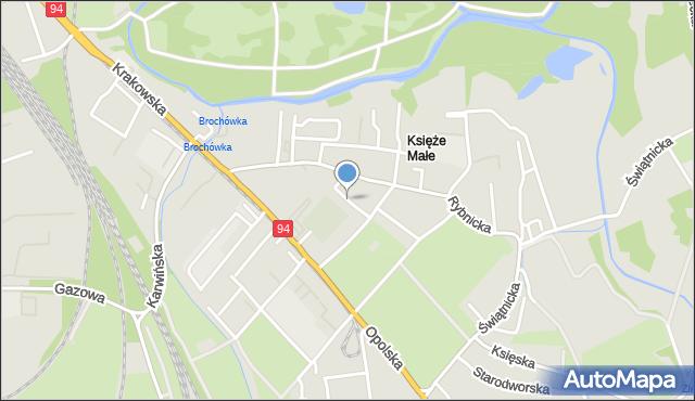 Wrocław, Wadowicka, mapa Wrocławia