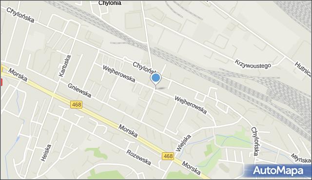Gdynia, Wejherowska, mapa Gdyni