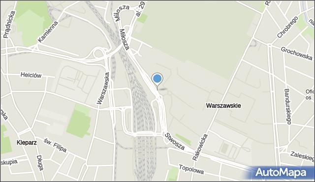 Kraków, Wita Stwosza, mapa Krakowa