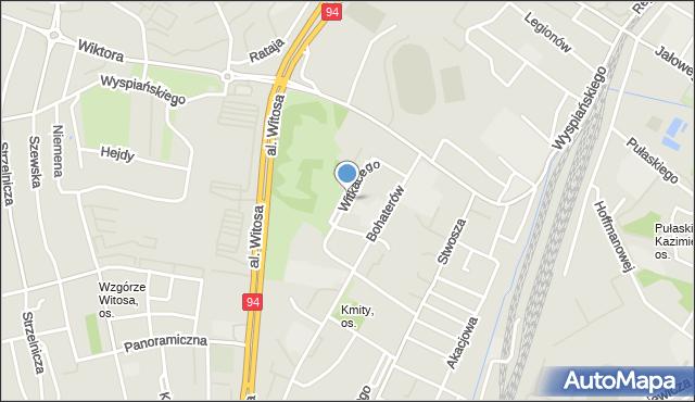 Rzeszów, Witkacego, mapa Rzeszów