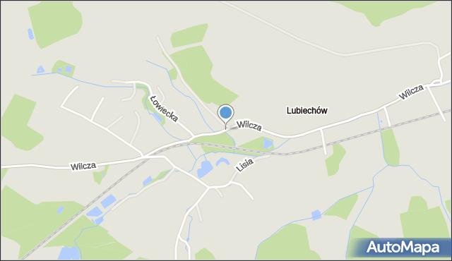 Wałbrzych, Wilcza, mapa Wałbrzycha