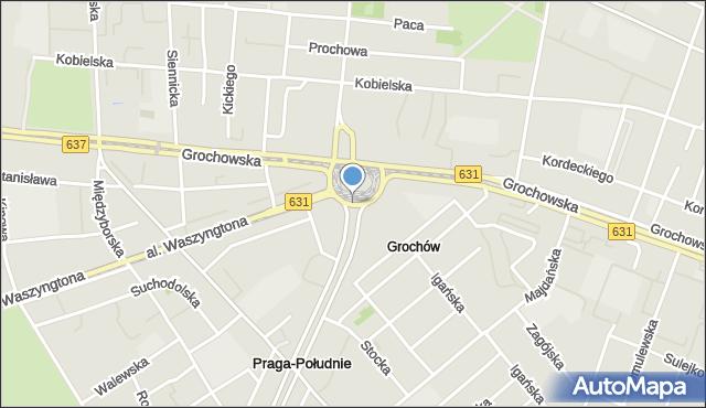 Warszawa, Wiatraczna, rondo, mapa Warszawy