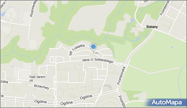 Elbląg, Władysława Łokietka, mapa Elbląga