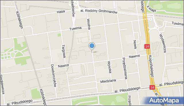 Łódź, Wodna, mapa Łodzi