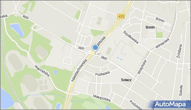 Poznań, Wojska Polskiego, mapa Poznania