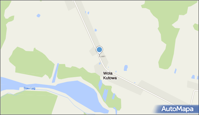 Wola Kutowa, Wola Kutowa, mapa Wola Kutowa