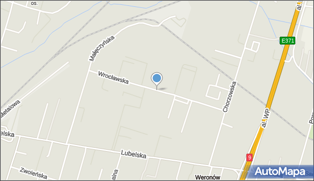 Radom, Wrocławska, mapa Radomia