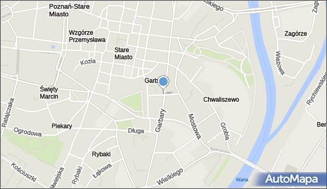 Poznań, Wszystkich Świętych, mapa Poznania