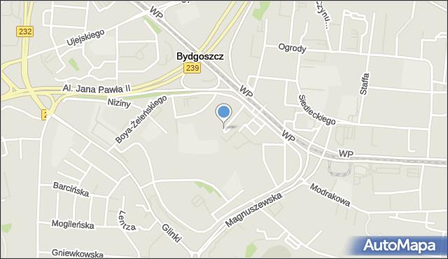 Bydgoszcz, Wyżyny, mapa Bydgoszczy