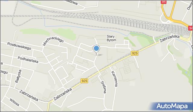 Bytom, Wyzwolenia, mapa Bytomia