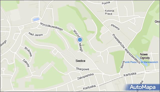Gdańsk, Wyczółkowskiego Leona, mapa Gdańska
