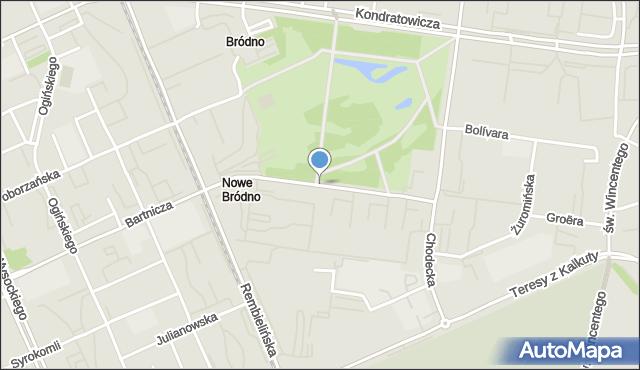 Warszawa, Wyszogrodzka, mapa Warszawy