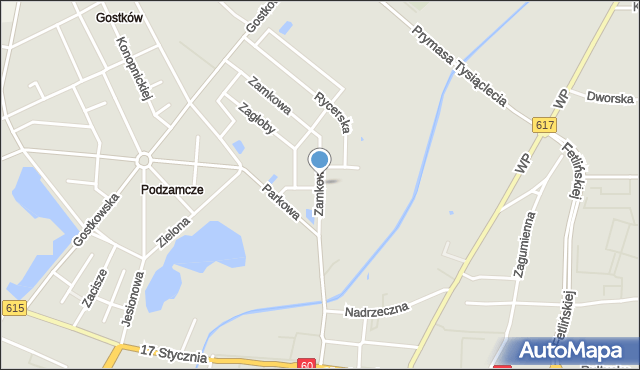 Ciechanów, Zamkowa, mapa Ciechanów