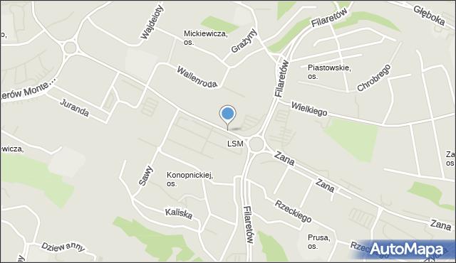 Lublin, Zana Tomasza, mapa Lublina