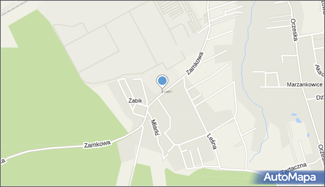 Ornontowice, Zamkowa, mapa Ornontowice