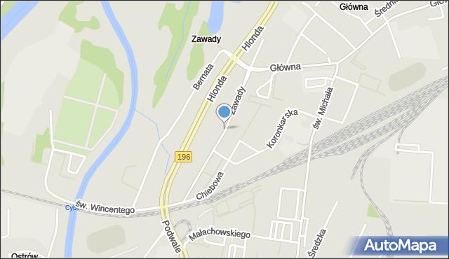 Poznań, Zawady, mapa Poznania