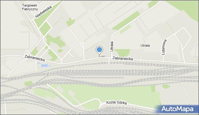 Warszawa, Zabraniecka, mapa Warszawy