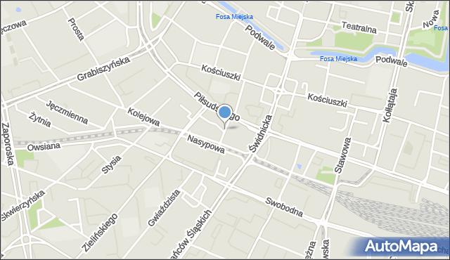 Wrocław, Zapolskiej Gabrieli, mapa Wrocławia