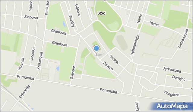 Łódź, Zbocze, mapa Łodzi