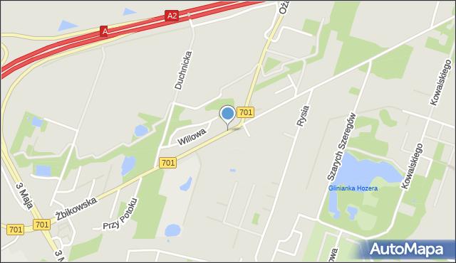 Pruszków, Żbikowska, mapa Pruszków
