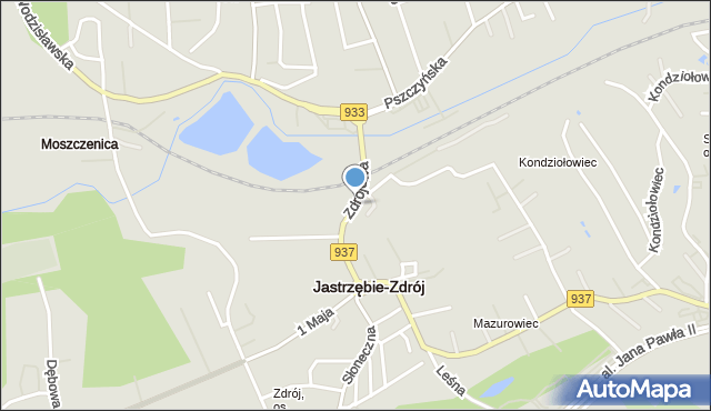 Jastrzębie-Zdrój, Zdrojowa, mapa Jastrzębie-Zdrój