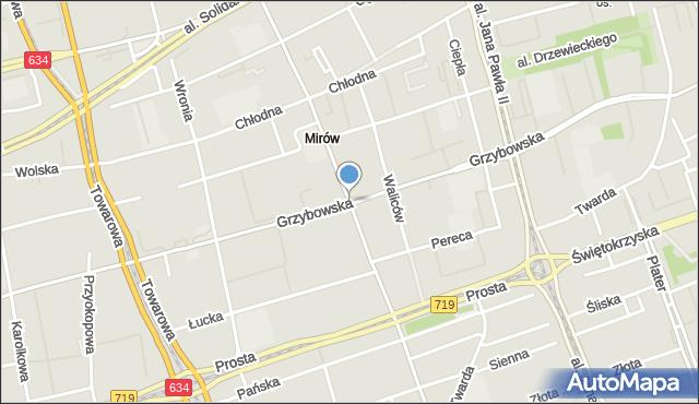 Warszawa, Żelazna, mapa Warszawy