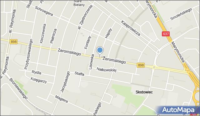 Warszawa, Żeromskiego Stefana, mapa Warszawy