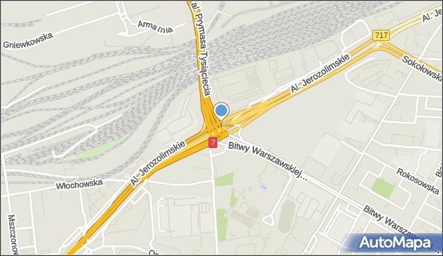 Warszawa, Zesłańców Syberyjskich, rondo, mapa Warszawy
