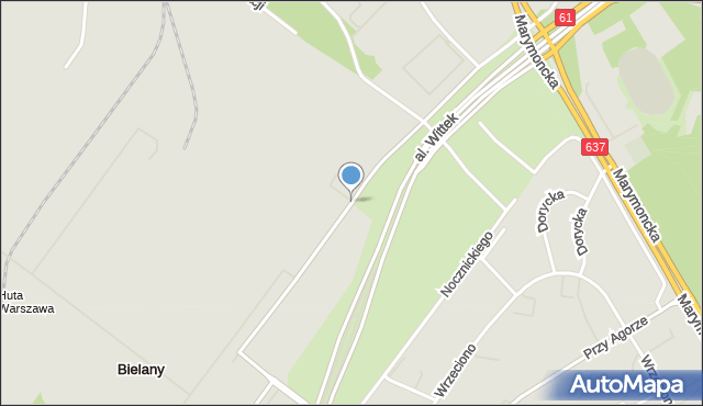 Warszawa, Zgrupowania AK Kampinos, mapa Warszawy