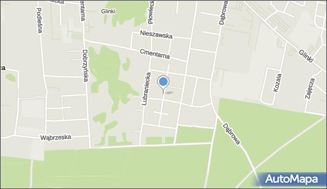 Bydgoszcz, Zielonogórska, mapa Bydgoszczy