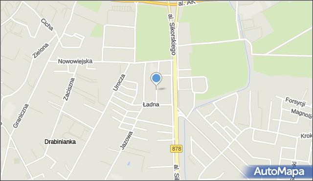 Rzeszów, Zielna, mapa Rzeszów