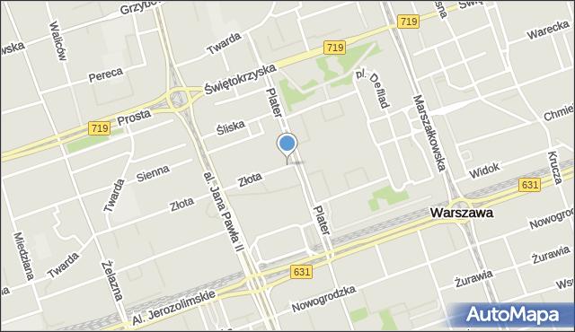 Warszawa, Złota, mapa Warszawy
