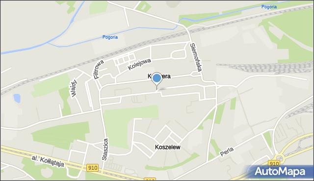 Będzin, Żwirki i Wigury, mapa Będzin
