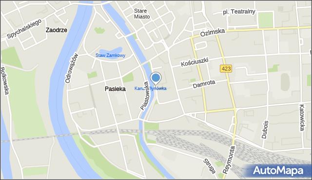 Opole, Żwirki i Wigury, mapa Opola