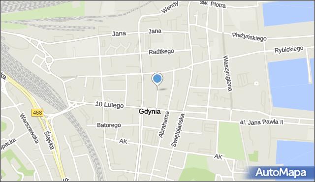 Gdynia, Zygmunta Augusta, mapa Gdyni