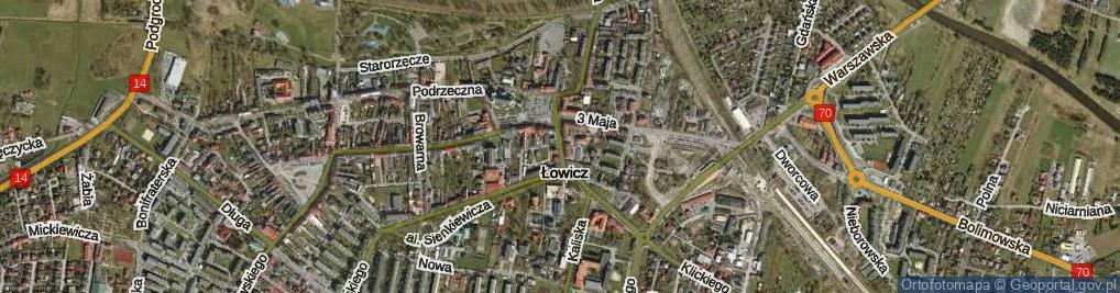 Zdjęcie satelitarne 11 Listopada