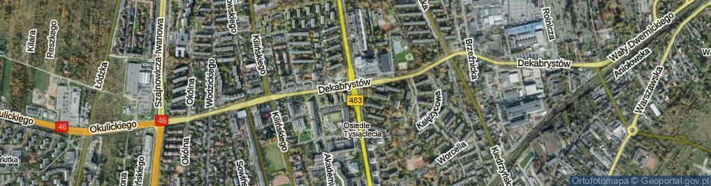 Zdjęcie satelitarne Aleja Armii Krajowej