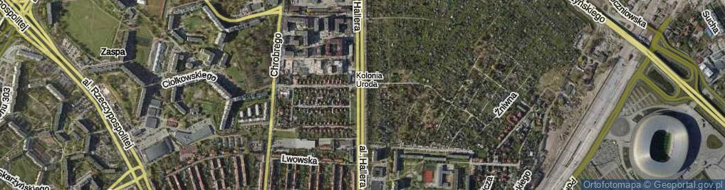 Zdjęcie satelitarne Aleja Hallera Józefa, gen.
