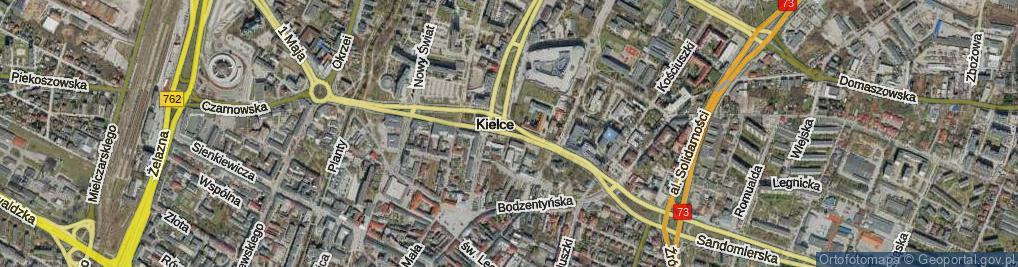 Zdjęcie satelitarne Aleja IX Wieków Kielc al.