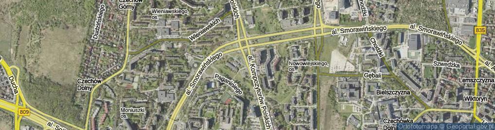 Zdjęcie satelitarne Aleja Kompozytorów Polskich