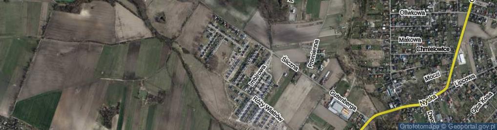 Zdjęcie satelitarne Aleja Dębowa al.