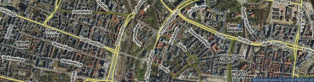 Zdjęcie satelitarne Aleja Niepodległości