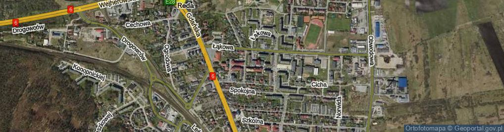Zdjęcie satelitarne Aleja Jana Pawła II