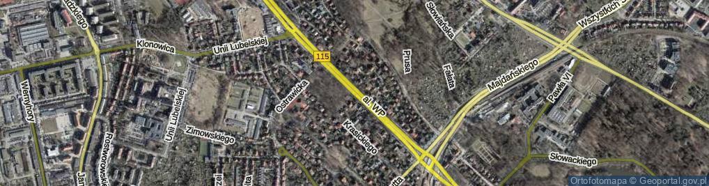 Zdjęcie satelitarne Aleja Wojska Polskiego