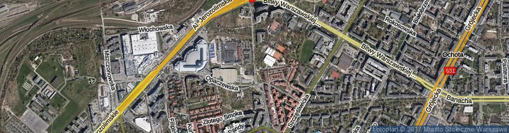 Zdjęcie satelitarne Aleja Bohaterów Września al.