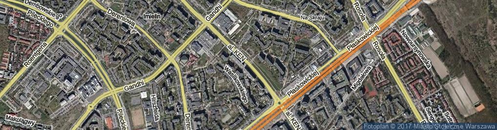 Zdjęcie satelitarne Aleja Komisji Edukacji Narodowej al.