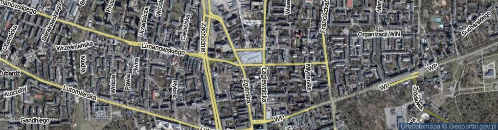 Zdjęcie satelitarne Bałucki Rynek