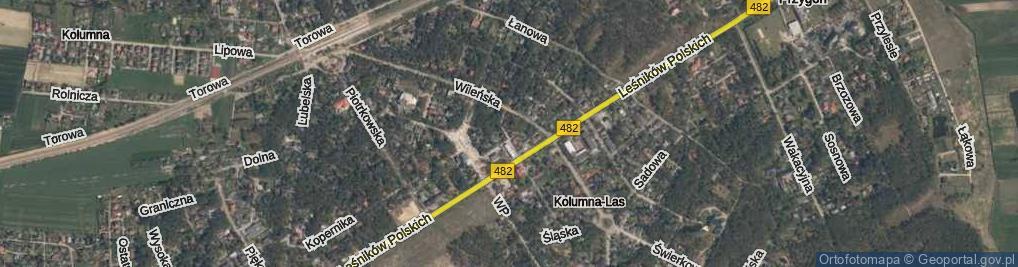 Zdjęcie satelitarne Bazarowa ul.