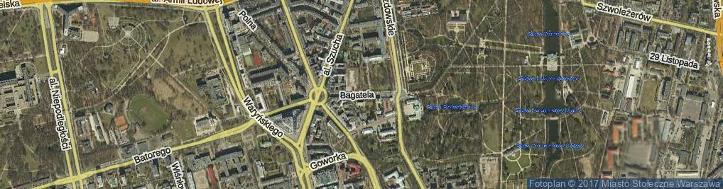 Zdjęcie satelitarne Bagatela ul.